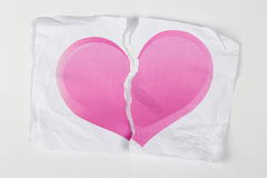 Corazón roto en dos Fotos de archivo libres de regalías
