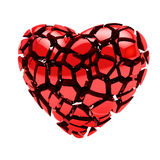Corazón roto en los pedazos aislados en blanco Imagen de archivo libre de regalías