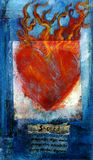 Corazón sánscrito sagrado Fotos de archivo libres de regalías