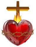 Corazón sagrado ilustración del vector