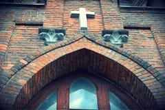 Corazón sagrado cruzado de la iglesia católica de Jesús Fotos de archivo libres de regalías