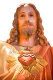 Corazón sagrado de la estatua de Jesús Foto de archivo libre de regalías