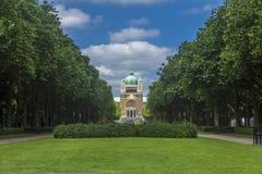 Corazón sagrado Parc Elisabeth Brussels Belgium de la basílica Fotografía de archivo libre de regalías