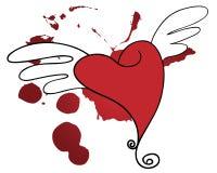 Corazón sangriento Imagen de archivo libre de regalías