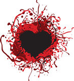 Corazón sangriento Fotos de archivo libres de regalías