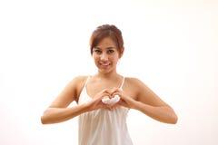 Corazón sano para la mujer Imágenes de archivo libres de regalías