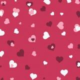 Corazón Sca de la tarjeta del día de San Valentín del fondo Foto de archivo libre de regalías