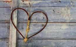 Corazón simple del vintage Fotografía de archivo