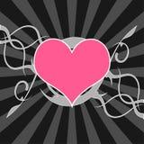 Corazón sobre fondo estrellado Fotos de archivo