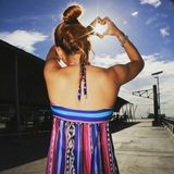 Corazón soleado Foto de archivo libre de regalías