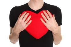 Corazón suave grande Fotografía de archivo libre de regalías