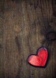 Corazón sucio de la tarjeta del día de San Valentín Fotos de archivo