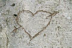 Corazón tallado Fotos de archivo
