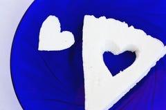 Corazón tallado Imagenes de archivo