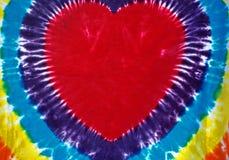 Corazón teñido lazo Imagen de archivo