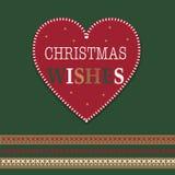 Corazón tradicional de la Navidad Imágenes de archivo libres de regalías