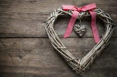 Corazón trenzado Imagen de archivo libre de regalías