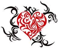 Corazón tribal Ilustración del Vector