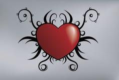 Corazón tribal stock de ilustración