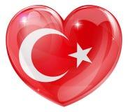 Corazón turco del amor de la bandera Imagen de archivo libre de regalías