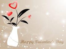 Corazón Valentine Background del tarro Imagenes de archivo