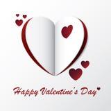 Corazón Valentine Greeting Card Design Imagen de archivo