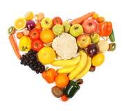 Corazón vegetariano imagen de archivo