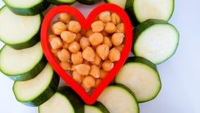 Corazón vegetariano sano Imagen de archivo libre de regalías