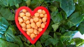 Corazón vegetariano sano Fotos de archivo