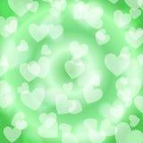 Corazón verde Bokeh, modelo, Imagenes de archivo