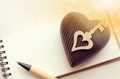 Corazón verde estilizado de la ilustración del vector Fotografía de archivo libre de regalías