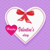 Corazón verde estilizado de la ilustración del vector Letras de día felices del ` s de la tarjeta del día de San Valentín Corazón Fotografía de archivo libre de regalías