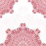 Corazón verde estilizado de la ilustración del vector Ilustración del vector Mandala con los corazones Fotos de archivo libres de regalías