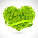 Corazón verde grande Fotografía de archivo
