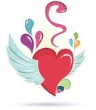 Corazón Wings Foto de archivo libre de regalías