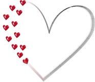 Corazón Wireframe Imagen de archivo libre de regalías