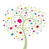 Corazón y árbol Foto de archivo libre de regalías