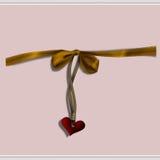 Corazón y arqueamiento Foto de archivo libre de regalías