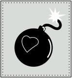 Corazón y bomba Imagen de archivo libre de regalías