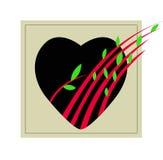 Corazón y brote Fotografía de archivo