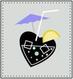 Corazón y cóctel Imagen de archivo libre de regalías