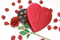 Corazón y caramelo del día de tarjeta del día de San Valentín foto de archivo libre de regalías