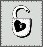 Corazón y cerradura Imágenes de archivo libres de regalías
