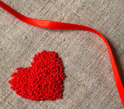 Corazón y cinta Fotos de archivo libres de regalías