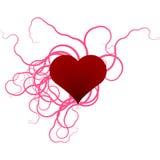 Corazón y cintas Imagen de archivo
