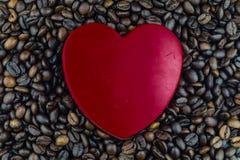 Corazón y circulación del café foto de archivo