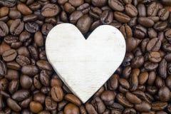 Corazón y circulación del café fotografía de archivo libre de regalías