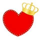 Corazón y corona stock de ilustración