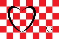 Corazón y cuadrados Foto de archivo libre de regalías