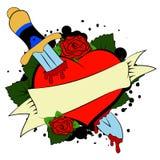 Corazón y daga Fotos de archivo